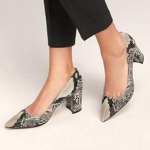 Marc Fisher Claire 2 Black Snakeskin Heels (9)